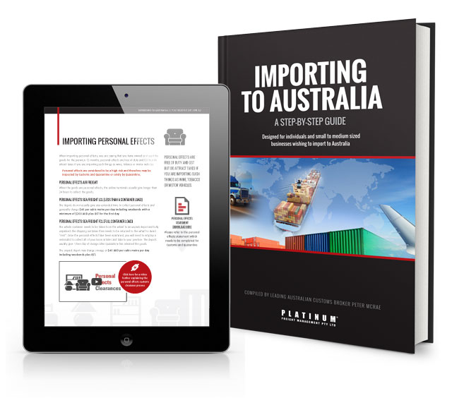 Importing to Australia ebook FREE